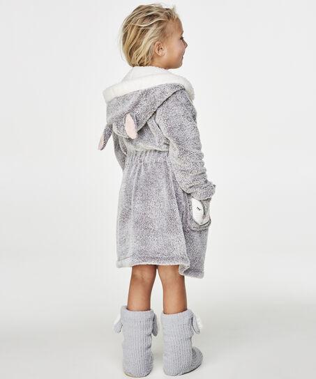 Kids Fleece badekåbe, Grå