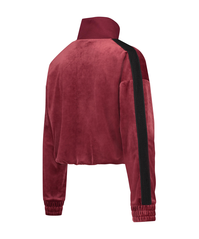 HKMX Sportssweater velour, rød, main