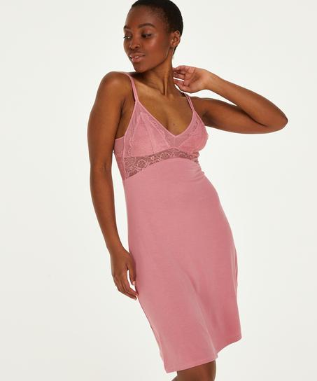Jersey Coco natkjole, pink