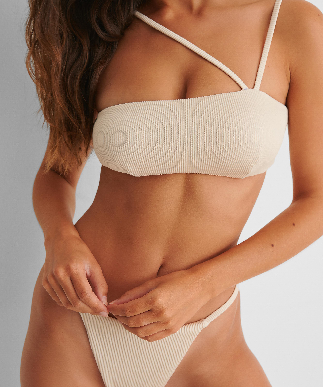 Bikini-croptop Struktur HKM x NA-KD, hvid, main