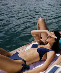 Harper ikke-formstøbt bikinitop med bøjle, blå