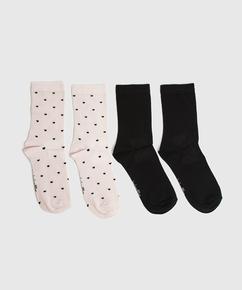 2P sokker viskose, pink