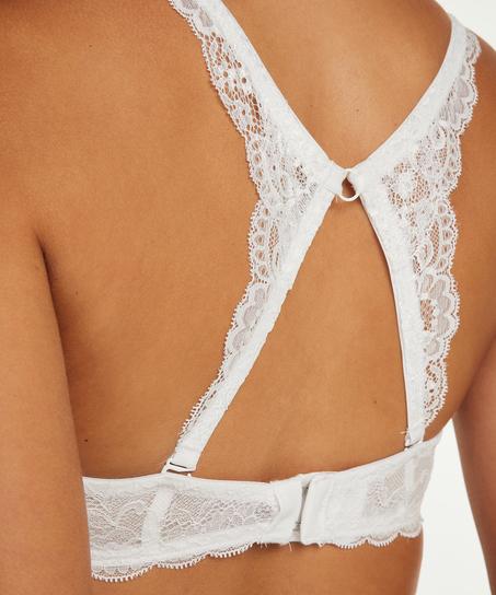 Lace back-detalje, hvid