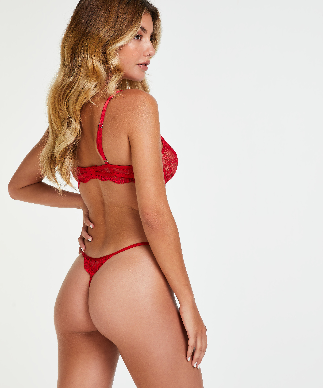 Ikke-formstøbt bøjle-bh Isabelle, rød, main
