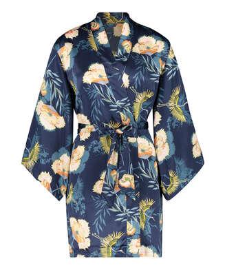 Kimono Lotus Bird, blå