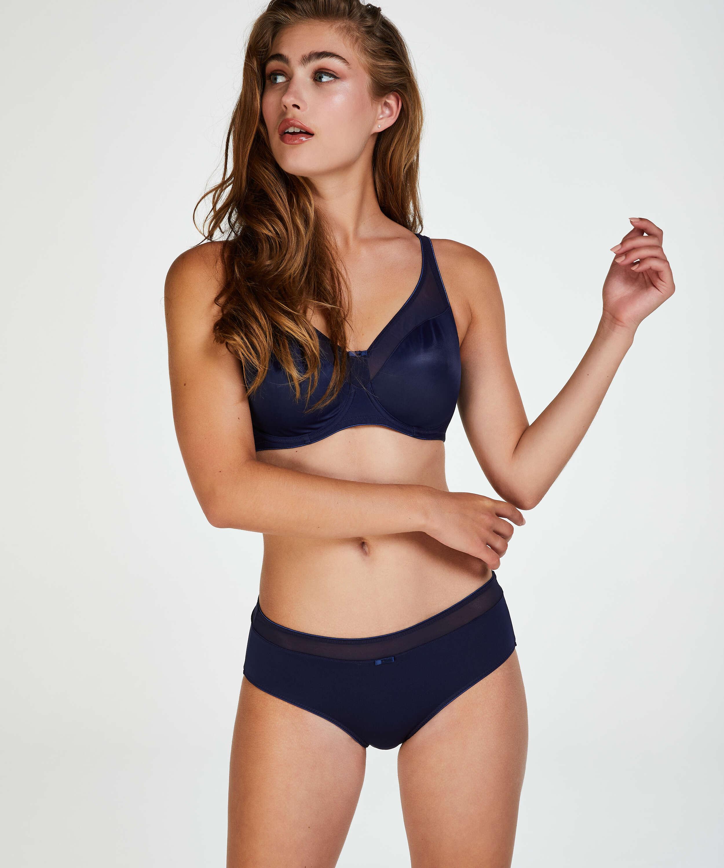 Nina ikke-formstøbt minimizer-bøjle-bh, blå, main