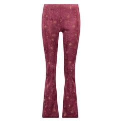 Flared Velour leggings, rød