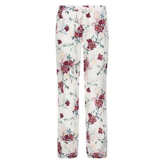 Woven Floral pyjamasbukser, hvid