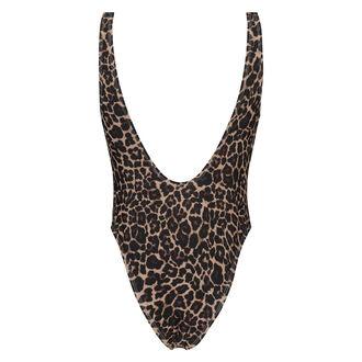 Badedragt Leopard, Brown