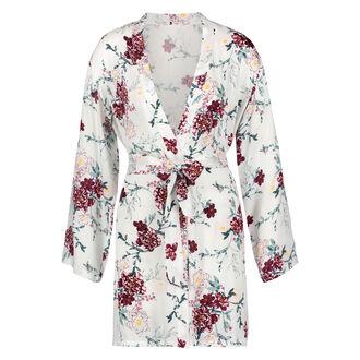 Woven Blossom kimono, hvid