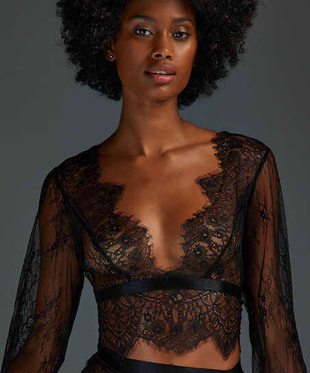 Top Allover Lace, sort