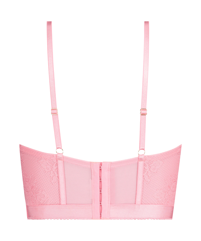 Formstøbt longline-bøjle-bh Malika, pink, main