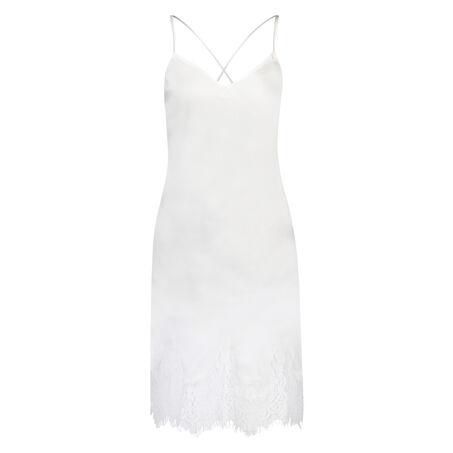 Lace Satin natkjole, hvid