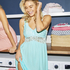 Modal Lace natkjole, blå