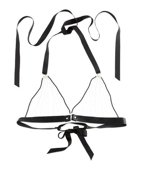 Bralette Chain top, sort