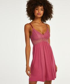 Natkjole Jersey lace Vera, pink