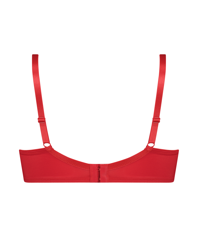 Nina ikke-formstøbt minimizer-bøjle-bh, rød, main