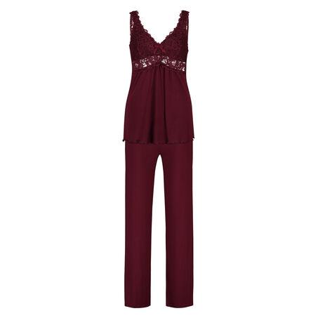 Pyjamaset Modal lace, rød