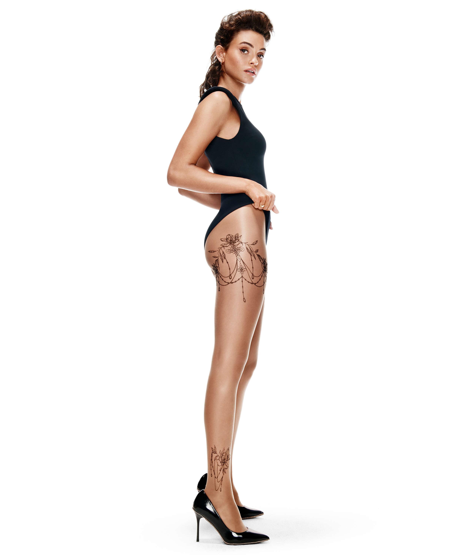 Strømpebukser 15 Denier Leg Tattoos, Beige, main