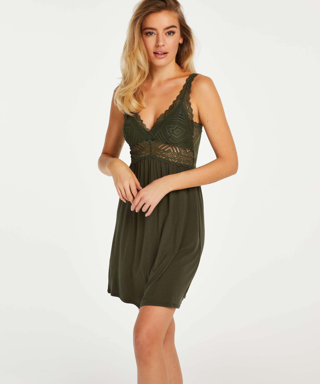 Nora Lace Reinier natkjole I AM Danielle, grøn, main