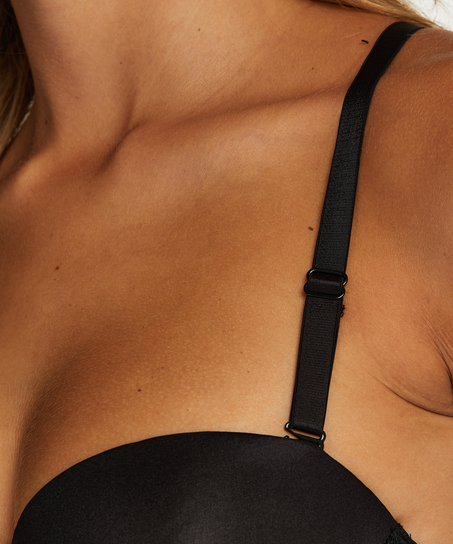 Lace back-detalje, sort
