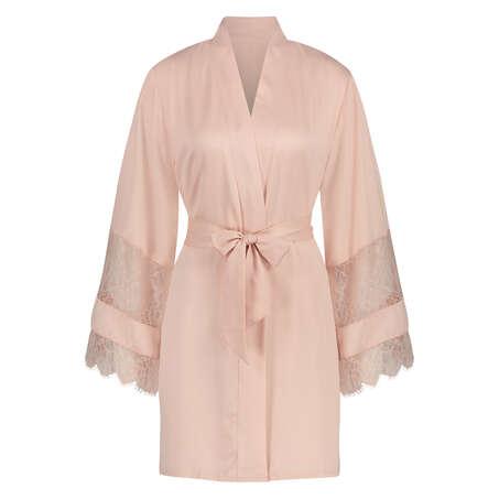 Kimono satin lace, pink