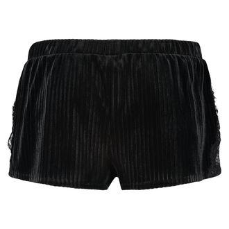 Ribkantede shorts i velour, grøn