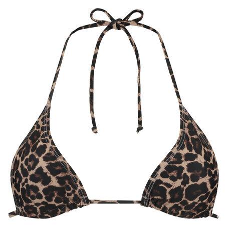 Triangle bikinitop mini Leopard, Brown