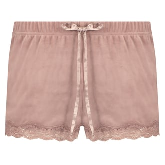Shorts velour Lace, pink