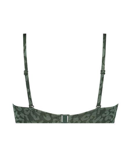 Tonal Leo bikinitop med push-up Størrelse A - E, grøn