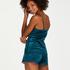 Shorts velour Lace, blå