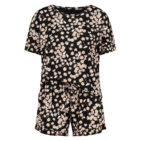 Kort pyjamassæt, sort
