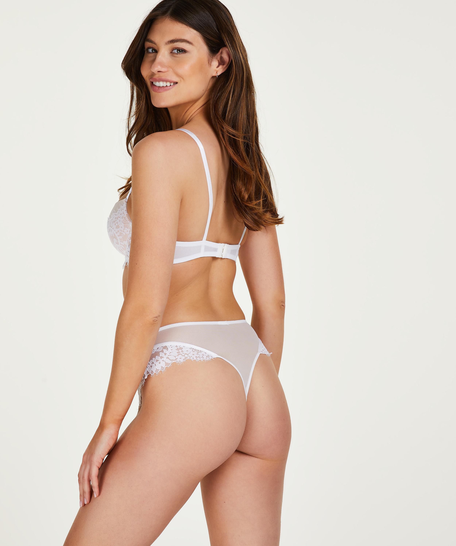 Høj g-streng Leyla, hvid, main