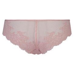 Lace Back usynlig brasiliansk trusse, pink