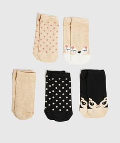 5 par trainerliner-sokker, sort