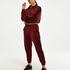 HKMX Sportssweater velour, rød