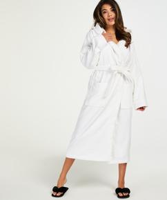 Lang badekåbe, hvid