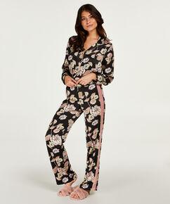 Pyjamasbukser Satin Emily, sort