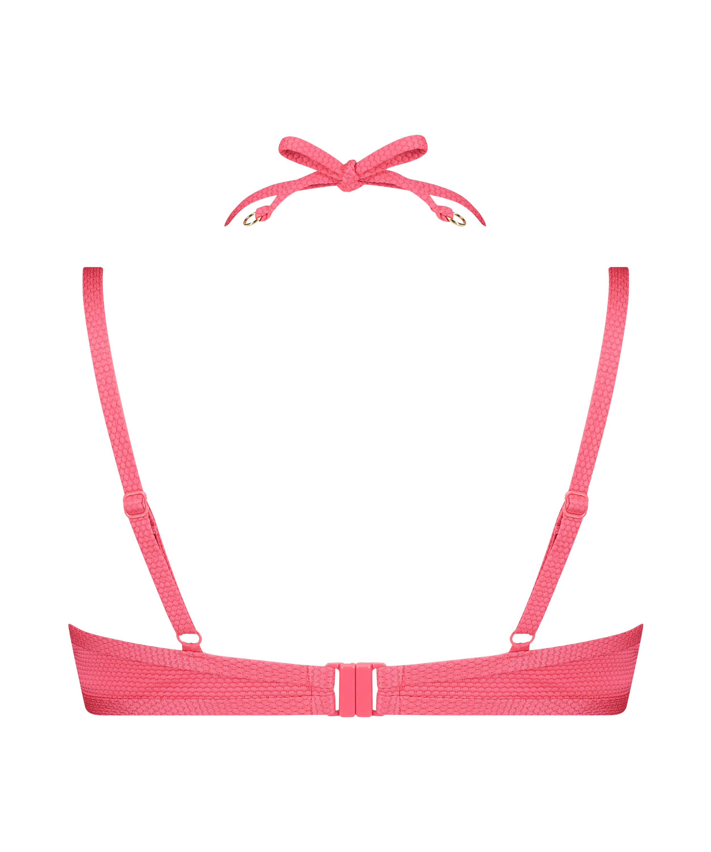 Formstøbt bøjle-bikinitop Ruffle Dreams, pink, main