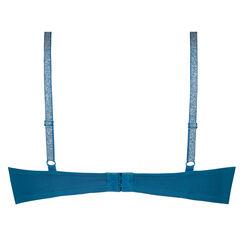 Plunge formstøbt bøjle-bh, blå