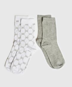 2 par sokker Antonia, hvid