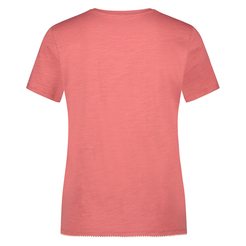 Kortærmet pyjamastop, pink, main