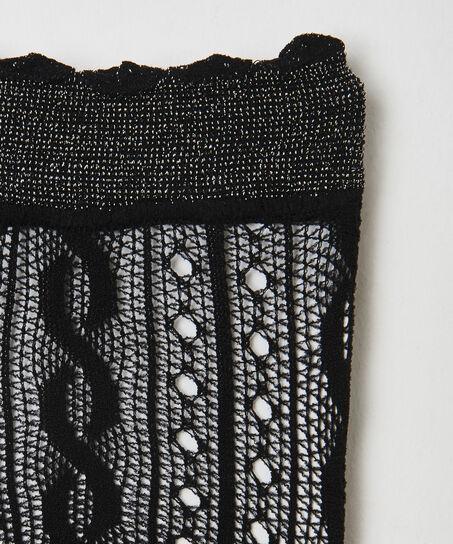 Ann Kathrin Crochet Fishnet sokker, sort