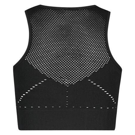 HKMX sports-bh med høj hals level 2, sort