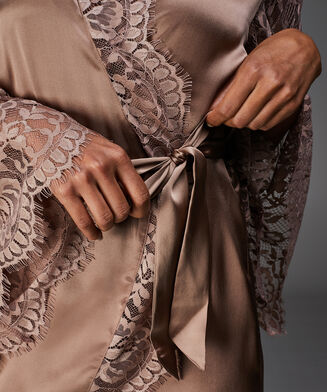Silke kimono, pink