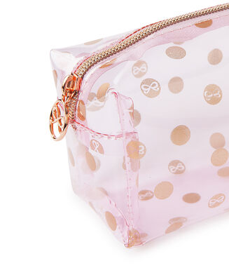 Dot makeuptaske, pink