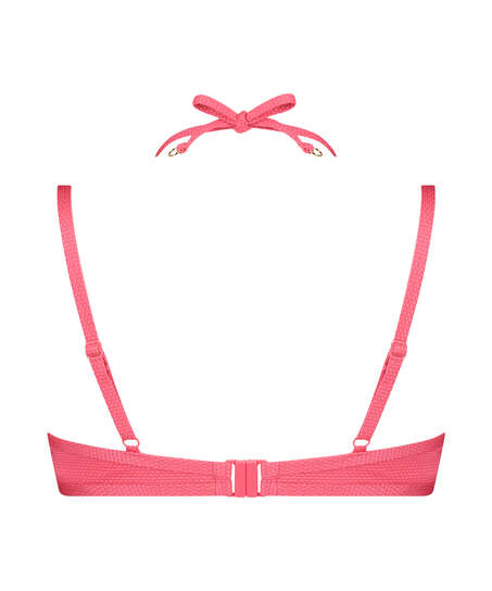 Formstøbt bøjle-bikinitop Ruffle Dreams, pink