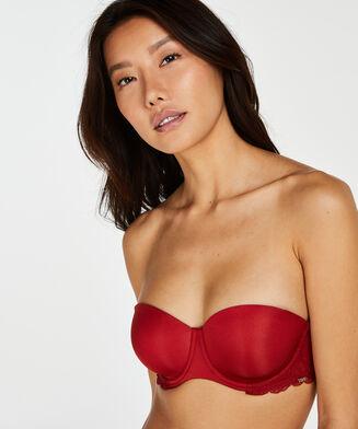 Angie formstøbt stropløs bøjle-bh, rød