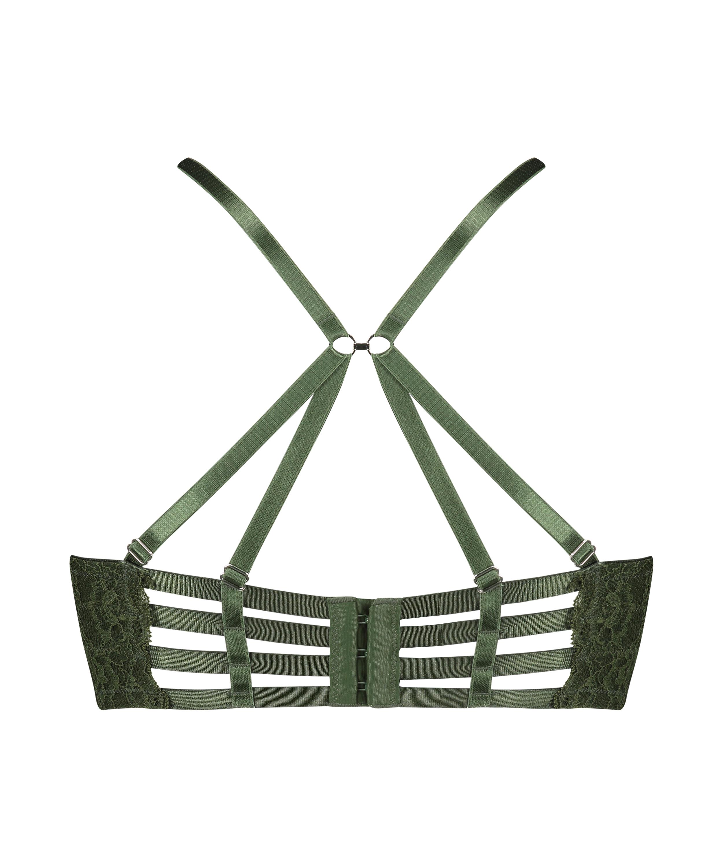 Polstret longline-bøjle-bh Ollie, grøn, main