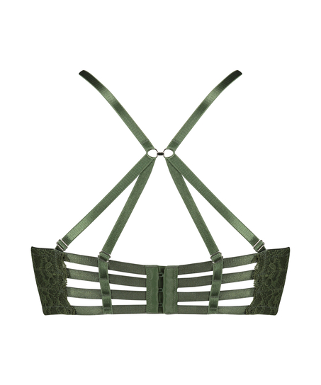 Polstret longline-bøjle-bh Ollie, grøn